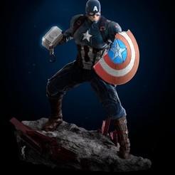 Descargar modelo 3D gratis Capitán América, josea_92