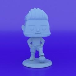 Descargar archivo STL Funko Messi Style • Diseño para la impresora 3D, CJLeon