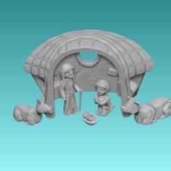 Captura de pantalla (415).png Télécharger fichier STL Crèche de Noël - Chiffres • Design à imprimer en 3D, CJLeon