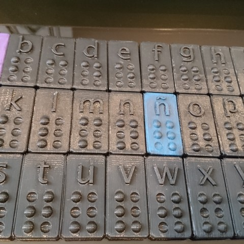 Download free 3D printer designs ALPHABET BRAILLE + Ñ, CJLeon