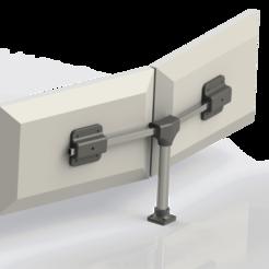 Download free STL file Soporte para dos monitores 24 pulgadas (Soporte VESA 75) • 3D printable template, CMS