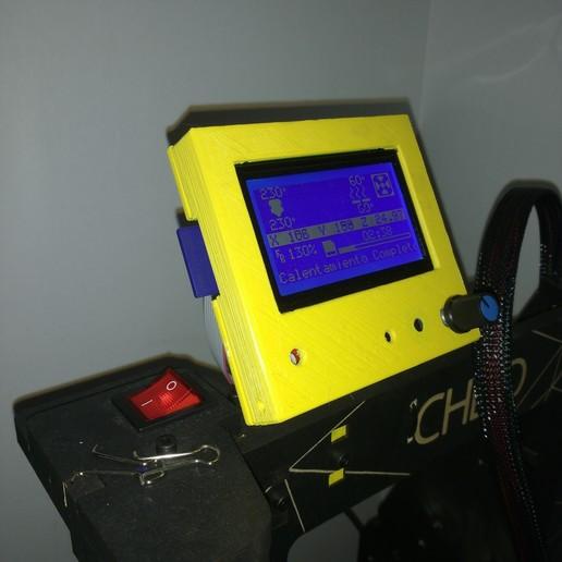 Download free GCODE file Soporte Monitor Impresora Prusa Che3D Opcional • 3D printable template, CMS