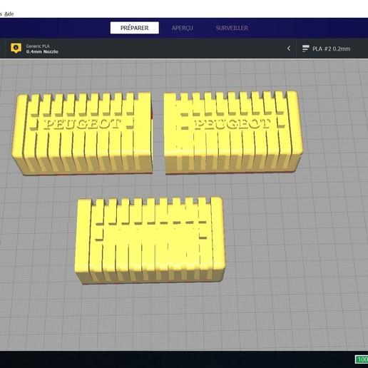 Descargar modelos 3D gratis Reposapiés derecho e izquierdo y un reposapiés personalizable, clem103