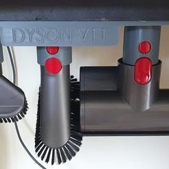Télécharger fichier impression 3D gratuit support pour 3 accessoires Dyson v11  , clem103