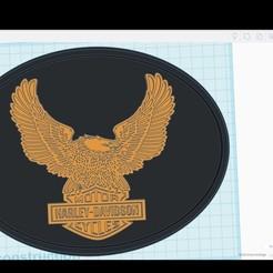 Descargar STL gratis logotipo de harley davidson, clem103