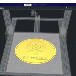 Download free 3D printing files yamaha logo, clem103