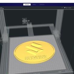 Descargar diseños 3D gratis Logotipo de Suzuki, clem103