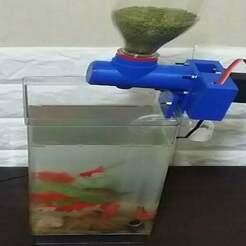 _1.jpg Download free STL file Automatic fish feeding machine • Model to 3D print, speedkornet