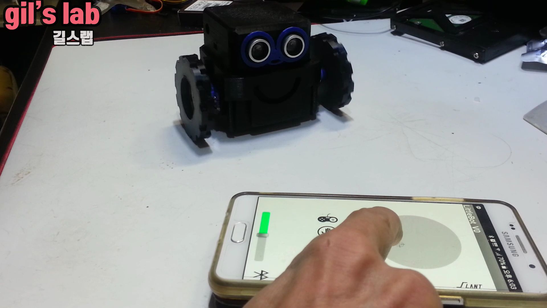 1부_리틀보이.mp4_000009009.png Download free STL file How to make a little robot controlled by smartphone • 3D printer design, speedkornet