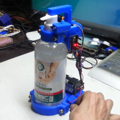 Download free STL files How to make automatic hand cleaner dispenser machine, speedkornet
