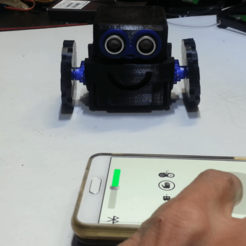 Download free STL file How to make a little robot controlled by smartphone • 3D printer design, speedkornet