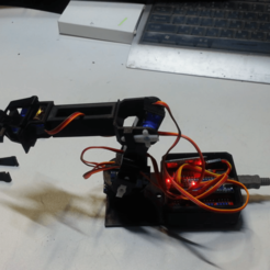 20191008_170234.mp4_001314410.png Download free STL file Smartphone control,Create a robot arm to repeat motion • 3D printing design, speedkornet
