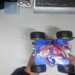 Télécharger fichier 3D gratuit voiture robot à contournement d'obstacles avec suivi de ligne, speedkornet