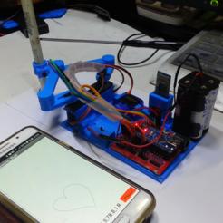 Télécharger plan imprimante 3D gatuit Créez un robot à griffonner avec votre smartphone, speedkornet