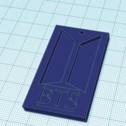 bts.jpg Download STL file keychain bts • 3D print design, AICRAG3D