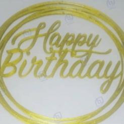 happy2.png Télécharger fichier STL Topper joyeux anniversaire • Design pour imprimante 3D, AICRAG3D