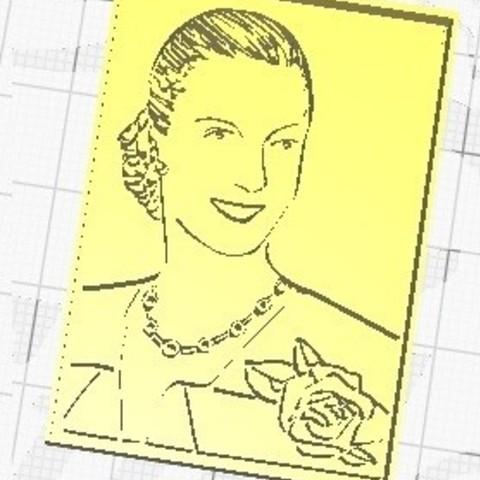 3D print files Key ring Eva Duarte de Perón, cristian_ariel_garcia