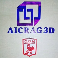 Télécharger plan imprimante 3D Porte-clés porte-clés Moron porte-clés Morón, AICRAG3D