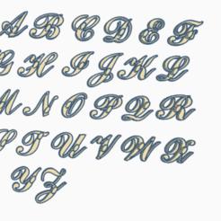 mayusculas.png Télécharger fichier STL Timbres en italique abcessif, majuscules et minuscules • Modèle pour impression 3D, AICRAG3D