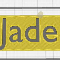 c72c1e3bdf0274785f8cf32c3e0078ff.png Download STL file First name Jade • 3D printable template, Chacal86