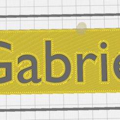 e98bf0963a992ddec60a25d66d619147.png Download STL file First name Gabriel • 3D print object, Chacal86