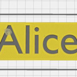Descargar diseños 3D Nombre Adlice, Chacal86