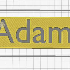 Adam.png Télécharger fichier STL Prenom Adam • Design pour impression 3D, Chacal86