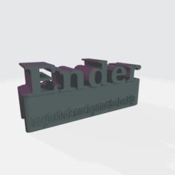 ender.png Télécharger fichier STL gratuit POUR ENDER (ACCESSOIRES POUR L'ENDER SUPÉRIEUR EN ALUMINIUM, ETC.) • Design pour imprimante 3D, einnosetrof
