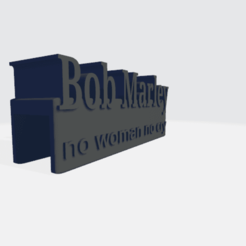 bobmarly.png Download free STL file bob marley (ACCESSORIES FOR ALUMINIUM TOP ENDER ECT ) • 3D printable model, einnosetrof