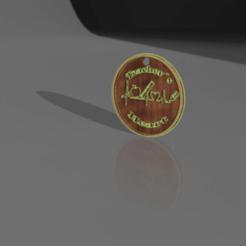 llavero redondo v1.png Download STL file Back to school key chain • 3D printer object, Cuque