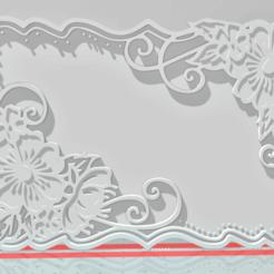 Descargar archivos 3D gratis Flowers frame, Cuque