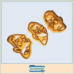 zero-01-01.jpg Download OBJ file File OBJ - Set of 3 Italian comics Cookie cutters-  ZEROCALCARE • Model to 3D print, ECCOFATTO