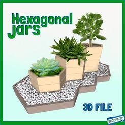 Download 3D printer templates Hexagonal Modular Jars , ECCOFATTO