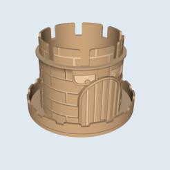 Télécharger STL Pot de château pour petites plantes, ECCOFATTO