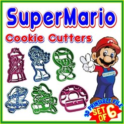 Download STL COOKIE CUTTER - Set of 6 -  SuperMario, ECCOFATTO