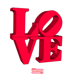 LOVE38-01.png Download STL file LOVE - Street art New York Statue • Template to 3D print, ECCOFATTO