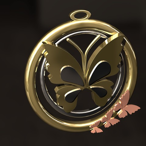 3D printing model Butterfly  pendant, danu_t94
