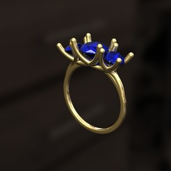 Download 3D printer model Ring J, danu_t94