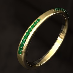3D print files Wedding Ring with 10 Diamonds, danu_t94