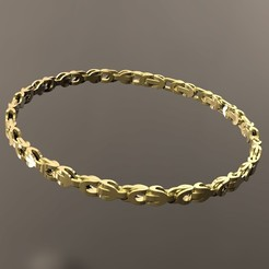 STL files Gold Bracelet, danu_t94