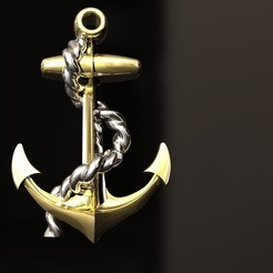 Download 3D printing designs Boat anchor pandantive, danu_t94