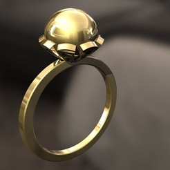 3D printer files Pearl Ring, danu_t94