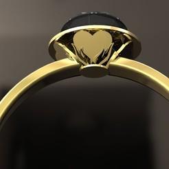 3D print model Crown heart Ring, danu_t94