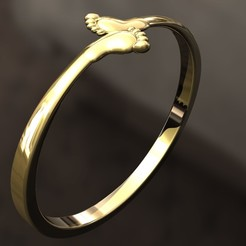 STL Baby feet Ring, danu_t94