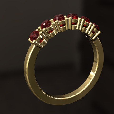 Download 3D printer model Six Diamond Ring, danu_t94