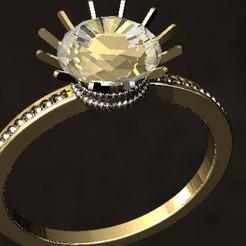 Modelos 3D para imprimir Anillo con perlas, danu_t94