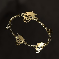 Download STL files Skull bracelet, danu_t94