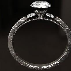 3D printer files Smarald Ring, danu_t94