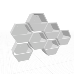 Screen Shot 2020-10-18 at 16.31.32.png Descargar archivo STL Hexagonal Concrete Wall Planter Mold v1 • Modelo para imprimir en 3D, haya_farm