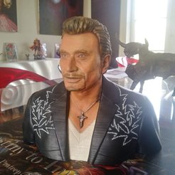Download 3D printing templates JOHNNNY HALLYDAY 2nd version, hannetonluc